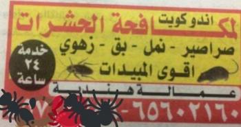 Indo Kuwait Pest Control Services,Pest Control,65602160