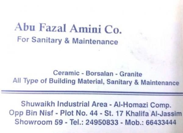 Abu Fazal Amini Co  - DEMO,Sanitarywares and Ceramics,2450833 66433444